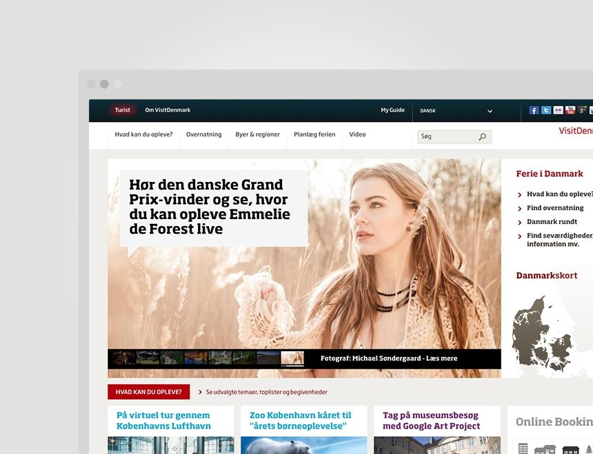 Visit Denmark frontpage screenshot